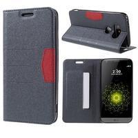 Klopové peňaženkové puzdro pre LG G5 - sivé - 1/6