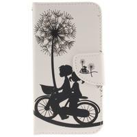 Obrázkové koženkové puzdro pre LG G5 - láska na bicykli - 1/7