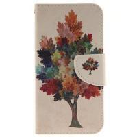 Obrázkové koženkové puzdro pre LG G5 - farebný strom - 1/7