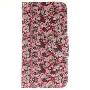 Obrázkové koženkové pouzdro na LG G5 - růže - 1