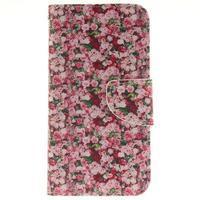 Obrázkové koženkové puzdro pre LG G5 - růže - 1/7