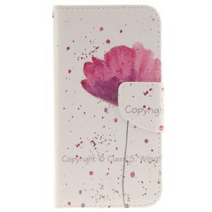 Obrázkové koženkové puzdro pre LG G5 - mak - 1
