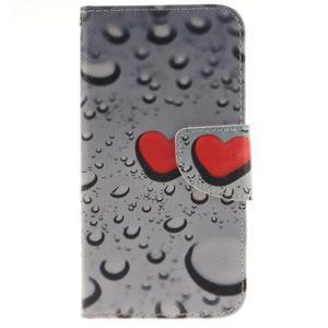 Obrázkové koženkové pouzdro na LG G5 - srdce - 1