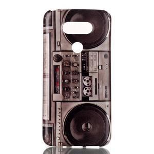 Gélový obal pre mobil LG G5 - retro radio - 1