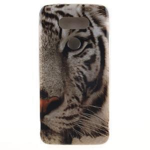 Softy gélový obal pre mobil LG G5 - biely tygr - 1