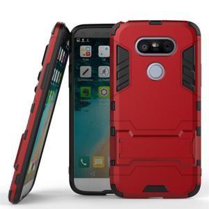 Odolný kryt pre mobil LG G5 - červený - 1