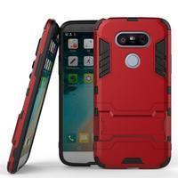 Odolný kryt pre mobil LG G5 - červený - 1/3