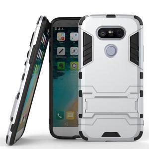 Odolný kryt pre mobil LG G5 - strieborny - 1
