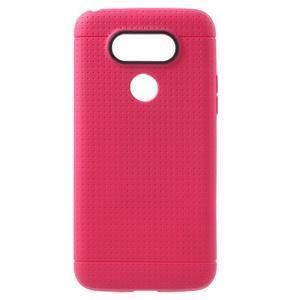 Rubby gélový kryt pre LG G5 - rose - 1
