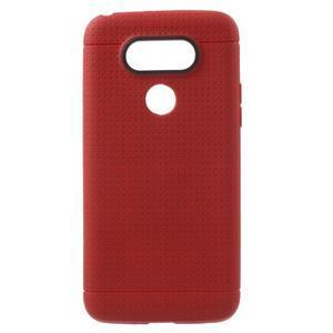 Rubby gélový kryt pre LG G5 - červený - 1