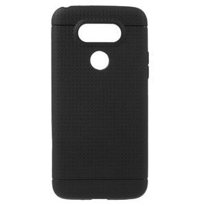 Rubby gelový kryt na LG G5 - černý - 1