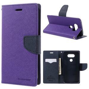 Goos stylové PU kožené pouzdro na LG G5 - fialové - 1