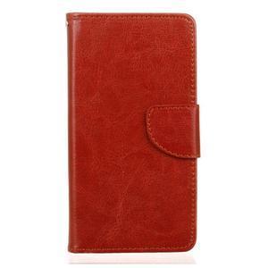 Lees peňaženkové puzdro pre LG G5 - hnedé - 1