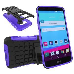Outdoor odolný obal pre mobil LG G5 - fialový - 1