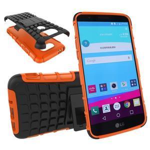 Outdoor odolný obal na mobil LG G5 - oranžový - 1