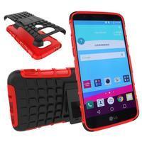 Outdoor odolný obal pre mobil LG G5 - červený - 1/5