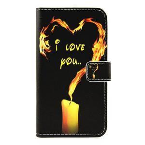 puzdro pre mobil LG G5 - ohnivá láska - 1