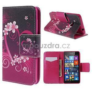 Peňaženkové puzdro Microsoft Lumia 535 - srdca - 1