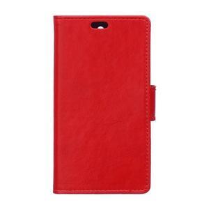 GX koženkové puzdro pre mobil Microsoft Lumia 550 - červené - 1