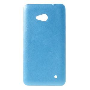Gélový kryt s imitáciou kože pre Microsoft Lumia 640 - modrý - 1