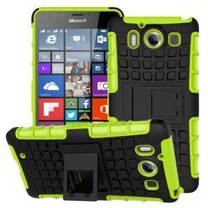 Outdoor odolný kryt pre mobil Microsoft Lumia 950 - zelený - 1