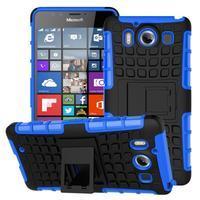 Outdoor odolný kryt na mobil Microsoft Lumia 950 - modrý - 1/3
