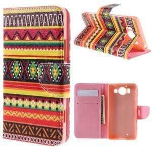 Peňaženkové puzdro pre Microsoft Lumia 950 - tribal - 1