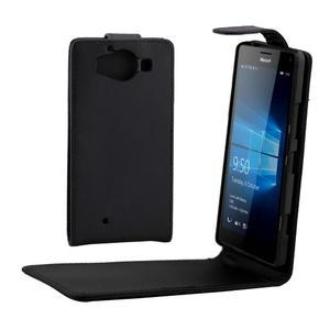 Flipové pouzdro na mobil Microsoft Lumia 950 - černé - 1