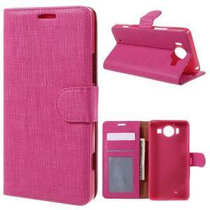 Cloth peněženkové pouzdro na mobil Microsoft Lumia 950 - rose - 1