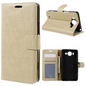 Cloth Peňaženkové puzdro pre mobil Microsoft Lumia 950 - champagne - 1