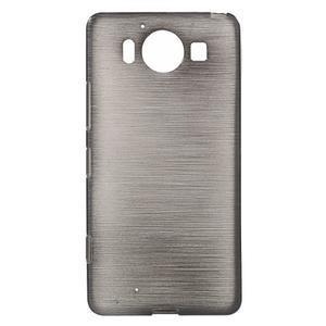 Brush hladký gelový obal na Microsoft Lumia 950 - černý - 1