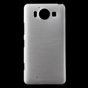 Brush hladký gelový obal na Microsoft Lumia 950 - bílý - 1