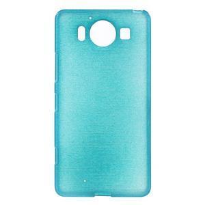 Brush hladký gelový obal na Microsoft Lumia 950 - modrý - 1