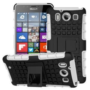 Outdoor odolný kryt pre mobil Microsoft Lumia 950 - biely - 1