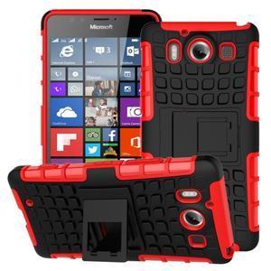 Outdoor odolný kryt na mobil Microsoft Lumia 950 - červený - 1