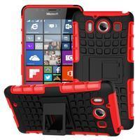 Outdoor odolný kryt na mobil Microsoft Lumia 950 - červený - 1/7