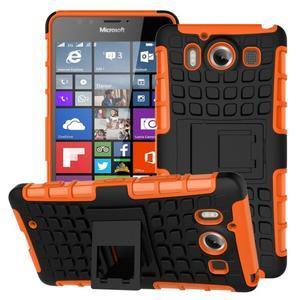 Outdoor odolný kryt pre mobil Microsoft Lumia 950 - oranžový - 1