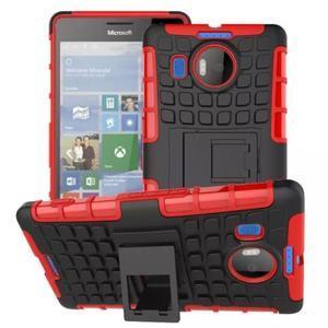 Odolný outdoor obal pre mobil Microsoft Lumia 950 XL - červený - 1