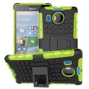 Odolný outdoor obal pre mobil Microsoft Lumia 950 XL - zelený - 1