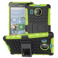 Odolný outdoor obal pre mobil Microsoft Lumia 950 XL - zelený - 1/2