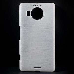 Brushed gélový obal pre mobil Microsoft Lumia 950 XL - biely - 1