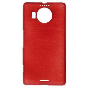 Brushed gélový obal pre mobil Microsoft Lumia 950 XL - červený - 1