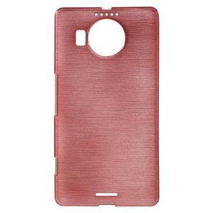 Brushed gélový obal pre mobil Microsoft Lumia 950 XL - ružové - 1