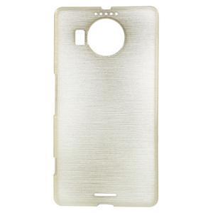 Brushed gélový obal pre mobil Microsoft Lumia 950 XL - zlatý - 1