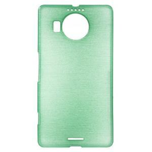 Brushed gélový obal pre mobil Microsoft Lumia 950 XL - cyan - 1