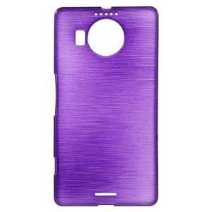 Brushed gélový obal pre mobil Microsoft Lumia 950 XL - fialový - 1