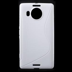 S-line gélový obal pre mobil Microsoft Lumia 950 XL - biely - 1