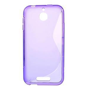 S-line gélový obal pre mobil HTC Desire 510 - fialový - 1