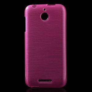 Brushed hladký gélový obal pre HTC Desire 510 - rose - 1