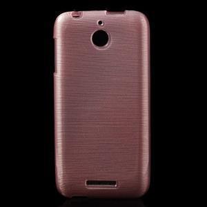 Brushed hladký gélový obal pre HTC Desire 510 - ružový - 1